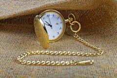 złoty zegarek kieszonkowy Zdjęcia Royalty Free