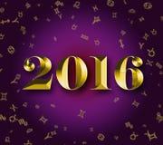 2016 złotych astrologii znaków ilustracji