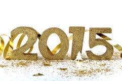 2015 złotych liczb Zdjęcia Royalty Free