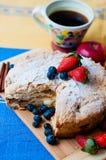 Z owoc jabłczany kulebiak Zdjęcie Stock