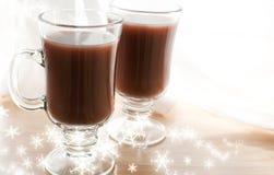 Z płatek śniegu kakaowy zima napój obraz royalty free