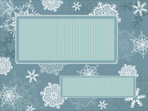Z płatek śniegu rocznik bożenarodzeniowa rama Fotografia Stock