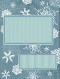 Z płatek śniegu rocznik bożenarodzeniowa rama Obrazy Royalty Free
