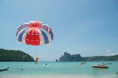 z paraglider podnieść Fotografia Royalty Free