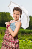 Z parasolem piękna dziewczyna Obrazy Royalty Free