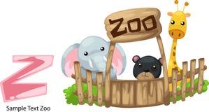 Z-parque zoológico de la carta del alfabeto de la ilustración Imagen de archivo