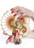 Z pięknym czerwonym manicure'em piękna ręka Obraz Royalty Free