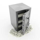 Z pieniądze bank skrytka royalty ilustracja