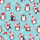 Z pingwinami bezszwowy wzór Zdjęcie Royalty Free