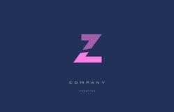 Z pink blue alphabet letter logo icon Royalty Free Stock Image