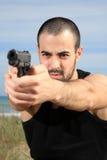 Z pistoletem męski ochroniarz obrazy stock