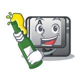 Z piwem A guzik dołączał kreskówki klawiaturę ilustracji