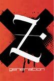 Z plakat w grunge stylu royalty ilustracja