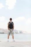 Z plecakiem mężczyzna Zdjęcie Royalty Free