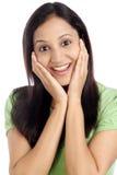 Z podnieceniem młoda Indiańska kobieta Zdjęcia Royalty Free