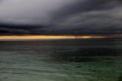 Zła pogoda na morzu karaibskim Obraz Stock