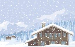 Zła pogoda w górach Obraz Royalty Free