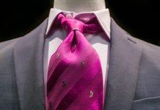 Z popielatym krawatem popielata kurtka Zdjęcia Stock