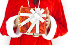 Z popielatymi bożymi narodzeniami Santa kapelusz Claus Zdjęcia Royalty Free