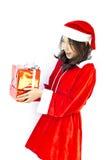 Z popielatymi bożymi narodzeniami Santa kapelusz Claus Obrazy Royalty Free