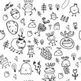 Z potworami bezszwowy wzór ilustracji