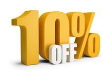 10 z procentu Fotografia Stock