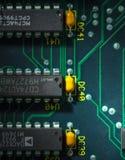 Z procesorem obwód elektroniczna deska Zdjęcie Stock