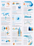 Z projektów mnóstwo elementami Infographics strona Obraz Royalty Free