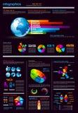 Z projektów mnóstwo elementami Infographics strona ilustracja wektor