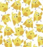Z ptakami śliczny bezszwowy wzór Obrazy Royalty Free
