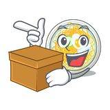 Z pudełkowatym naengmyeon słuzyć w kreskówka pucharze royalty ilustracja