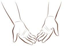 Z pustymi rękami Błagać Biednego żebraka ilustracja wektor