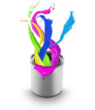 Z puszka farby barwiony chełbotanie Obraz Royalty Free