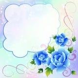Z różami piękny tło Zdjęcie Stock