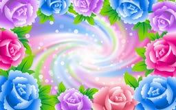 Z różami piękny tło Obrazy Royalty Free