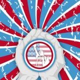 Z rękami amerykański kolor royalty ilustracja