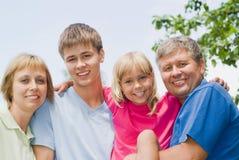 Z rodzicem szczęśliwi dzieci obraz royalty free