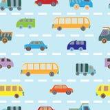 Z samochodami bezszwowy wzór Fotografia Royalty Free