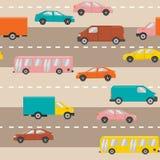 Z samochodami bezszwowy wzór Zdjęcia Stock