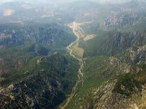 Z samolotu ziemski widok Zdjęcia Stock