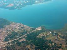 Z samolotu ziemski widok Zdjęcie Stock