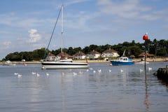 Z seagulls statku krajobraz Zdjęcie Stock
