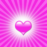 Z sercami miłości tło ilustracji