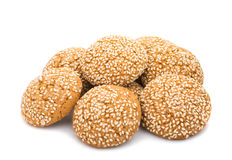 Z sezamowymi ziarnami Oatmeal ciastka Obrazy Royalty Free