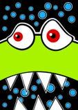 Z skołatanym zielonym potworem zaproszenie karta Zdjęcie Royalty Free