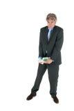 Z skradzionym pieniądze biznesowy mężczyzna Obraz Stock