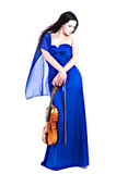 Z skrzypce młoda ładna dziewczyna Zdjęcie Stock