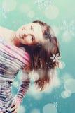 Z snowboard piękno młoda dziewczyna obraz stock