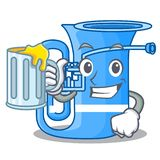 Z soku tuba w kształt śmiesznej kreskówce ilustracja wektor
