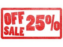 Z sprzedaży 25% teksta etykietki znaczka Zdjęcie Royalty Free